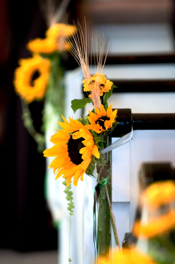Sunflower Themed Wedding Decorations