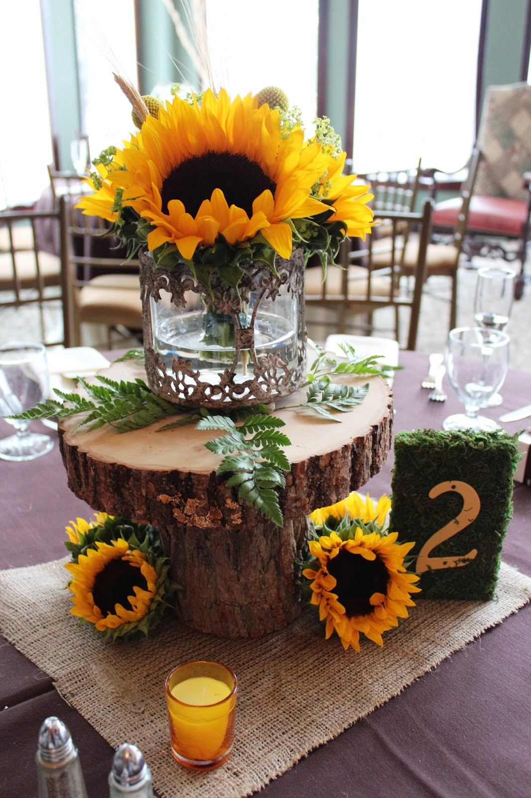 Sunflowers Fall Wedding Decorations