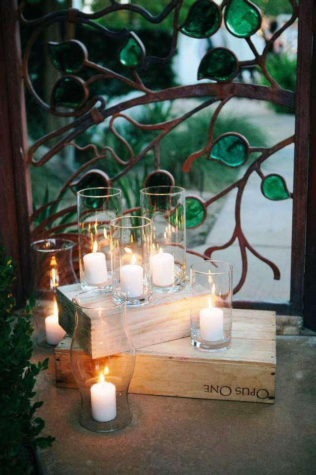Wedding Wine Boxes Decoration With Candle