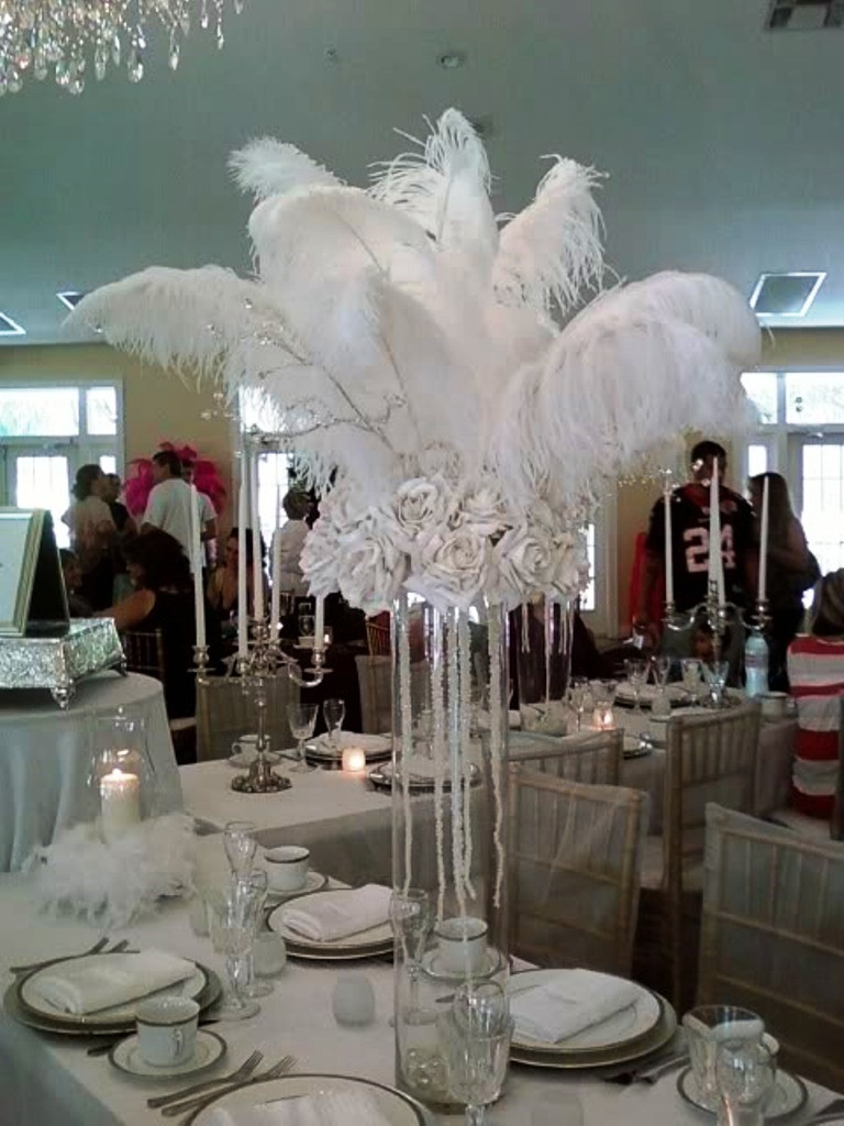 White Bling Wedding Decorations