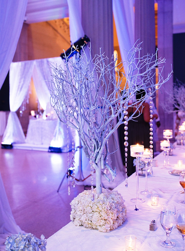 Winter Wedding Indoor Decor