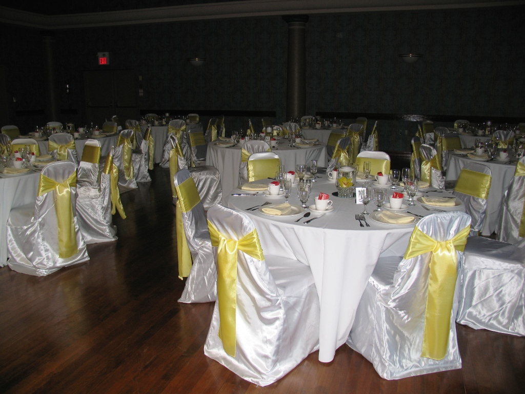Yellow Themed Wedding Decorations