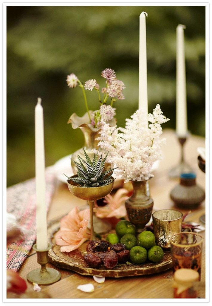 bohemian decor centerpiece