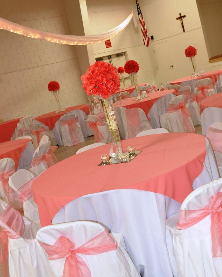 coral wedding centerpieces Decorations