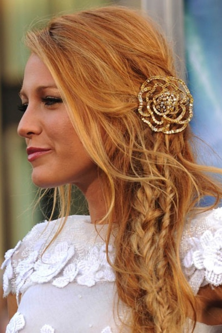 Blake Lively Messy Wedding Hairstyles