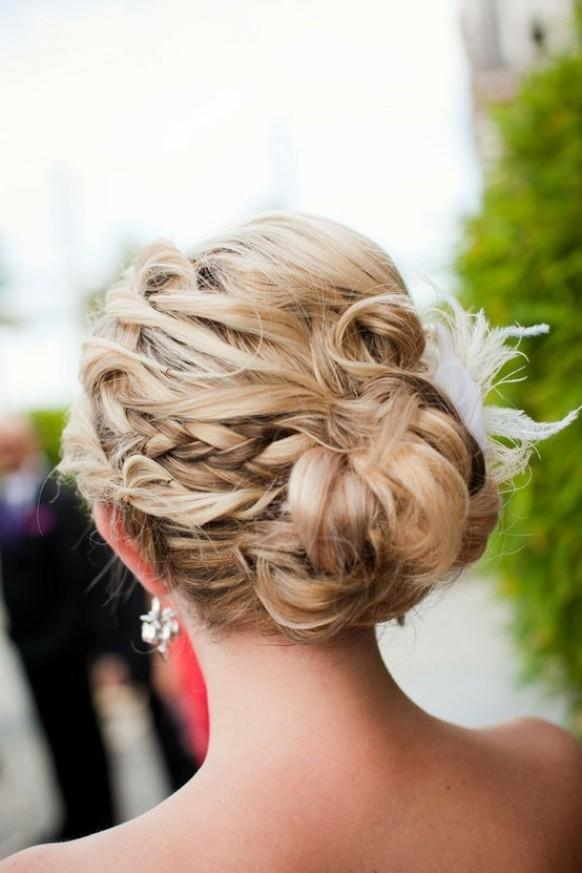 Blonde Updo Wedding Hairstyles