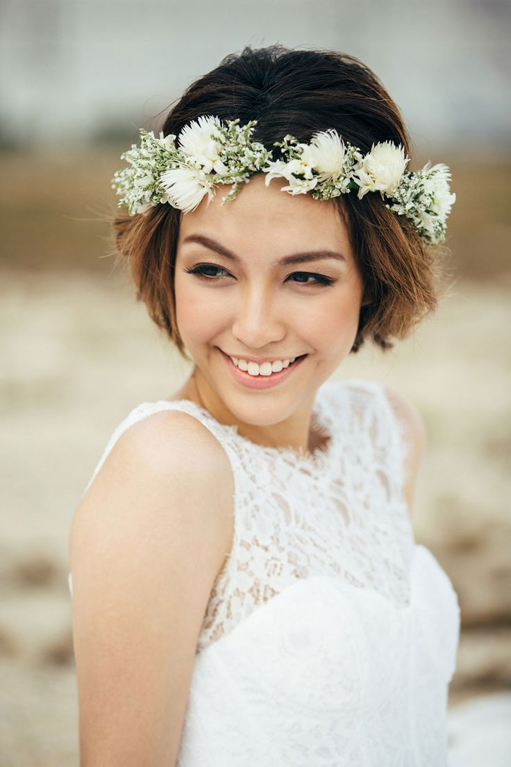 Boho Short Wedding Hairstyles