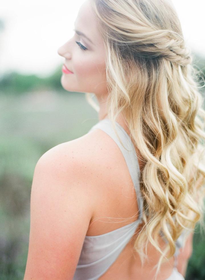 Half Up Beach Wedding Hairstyles
