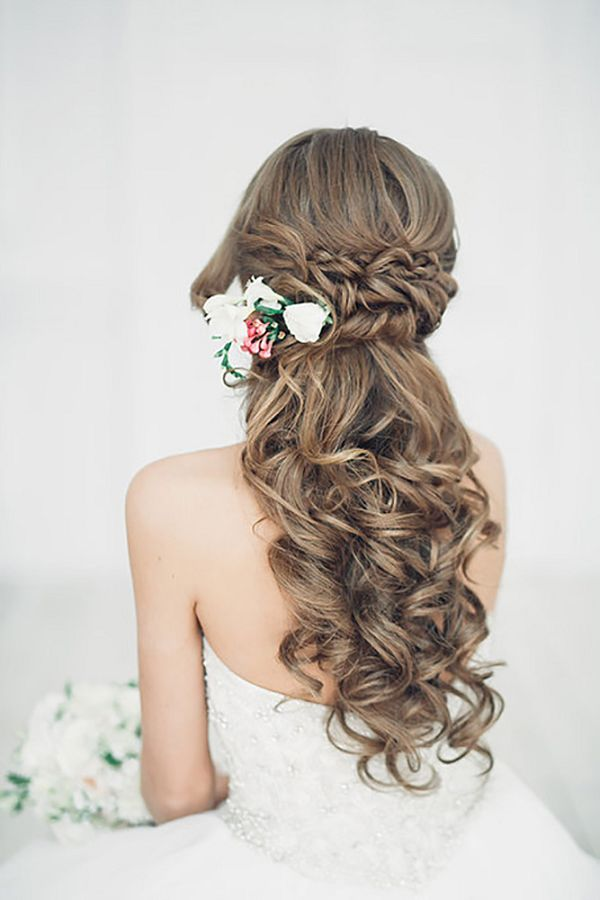 Half Up Half Down Country Wedding Hairstyles