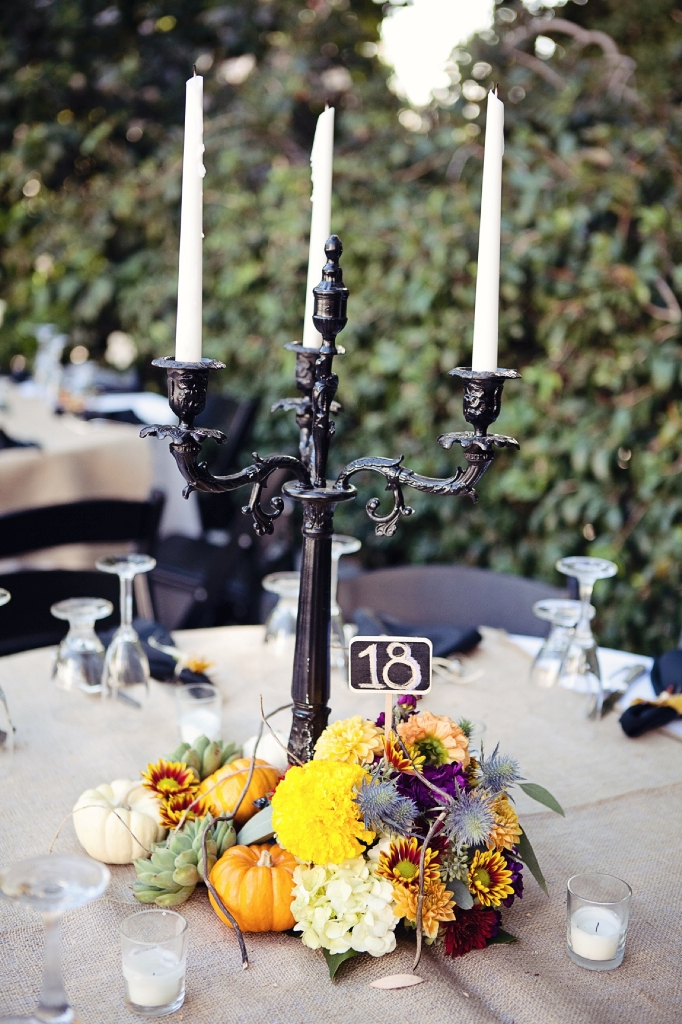 Halloween Candelabra Wedding Centerpieces