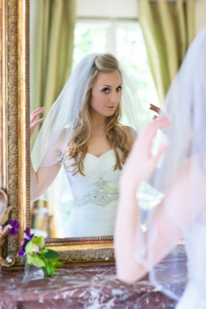 Wedding Hairstyles With Veil On Top