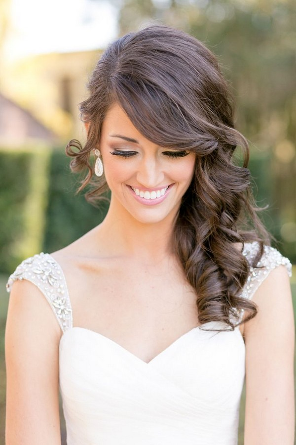 Curls Wedding Hairstyles With Bangs
