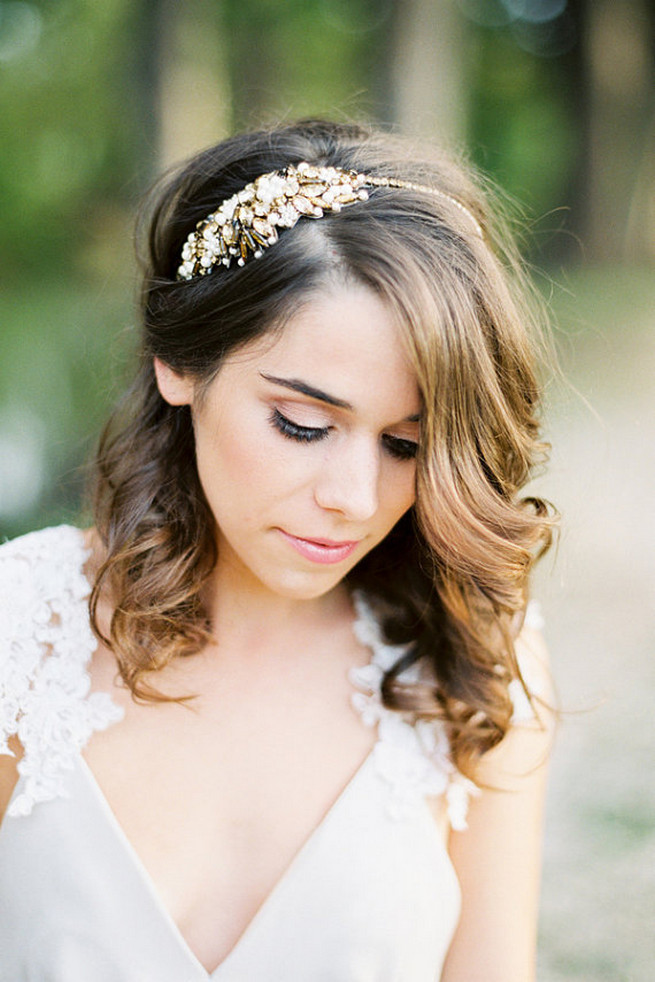 Wedding Hairstyles With Bangs And Headpieces