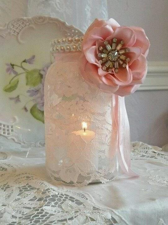 pearls-and-lace-mason-jar-candle