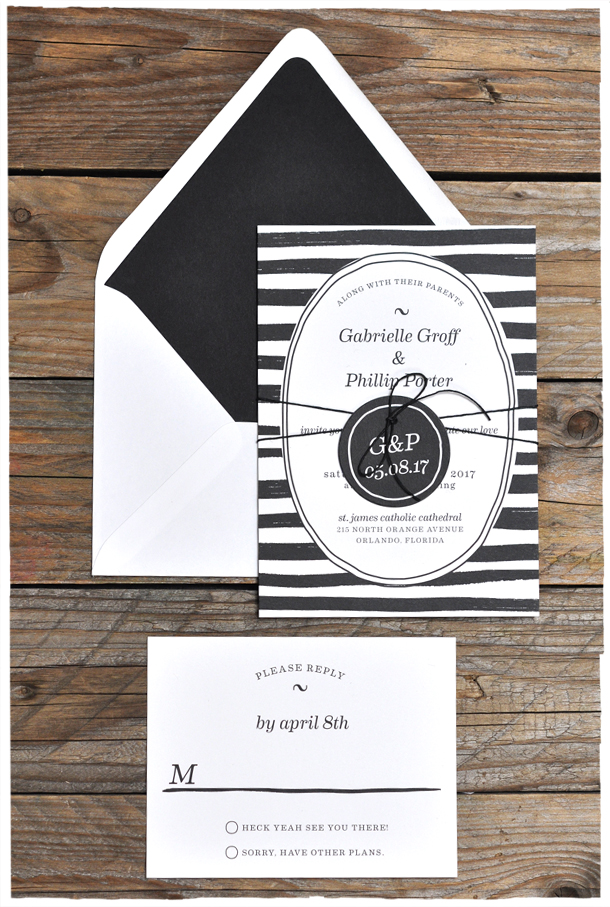 casual-stripe-wedding-invitation