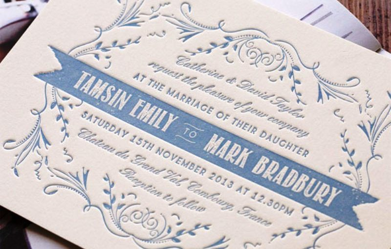 30 Letterpress Wedding Invitations Ideas