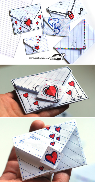Simple Origami Envelope for Him