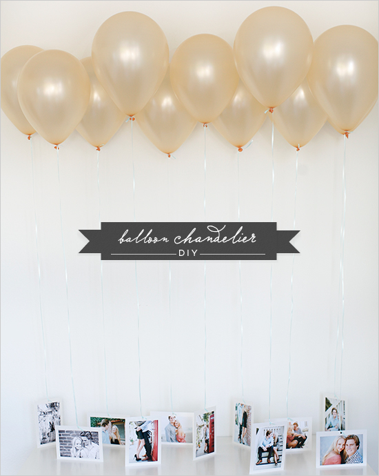 DIY Balloon Chandelier